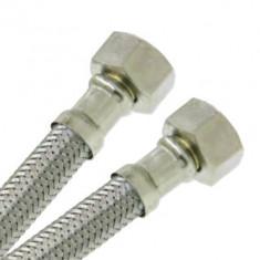 """Flexible sanitaire Inox Ø intérieur 8mm Femelle 1/2"""" (15/21) - Femelle 1/2"""" (15/21) - longueur 1,00 m"""