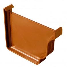 Fond de gouttière droite/gauche PVC BEST - effet cuivre