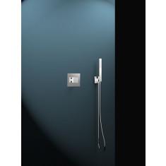 Ensemble mitigeur de douche encastré avec douchette et flexible KUATRO - Ramon Soler K4718011