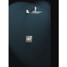 Kit KUATRO mitigeur douche encastré avec tête de douche inox et bras mural - Ramon Soler K4718012