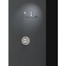 Ensemble de douche thermostatique encastré 1 voie ALEXIA avec douche de tête - Ramon Soler K3624002
