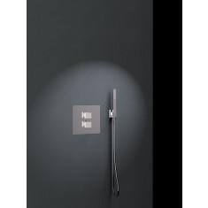 Ensemble de douche thermostatique encastré 1 voie KUATRO avec douchette - Ramon Soler K4724001