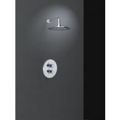 Ensemble de douche thermostatique encastré 1 voie RS-Q avec douche de tête - Ramon Soler K9324002