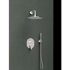 Ensemble mitigeur de douche encastré 2 voies TITANIUM - design rond - Ramon Soler K1815021