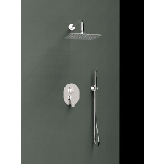 Ensemble mitigeur de douche encastré 2 voies TITANIUM - design carré- Ramon Soler K1815022