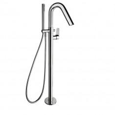 Mitigeur bain-douche sur colonne avec ensemble de douche ALEXIA