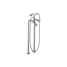 Mélangeur bain-douche avec colonnes de 800mm avec ensemble + tête céramique 1/2 tour