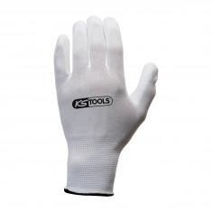 Gants microfibre blancs - Taille L - boîte 12 paires - KS Tools 310.0450