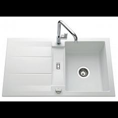 Évier de cuisine polaris mat GENEA - L 870 x l 510 x P 220 mm - sous-meuble 60 cm - Aquatop