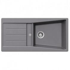 Évier de cuisine Cristalite Opus - 1000 x 500 x 195 mm - sous-meuble 60 cm - Coloris granit Nero - Schock