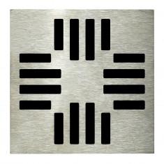 Grille carrée 130 x 130 mm Grafic pour Isotanche