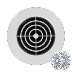Grille d'aération ronde avec fermeture - A encastrer