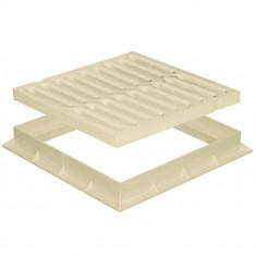 Grille de sol PVC renforcée avec cadre anti-choc- SABLE - FIRST-PLAST