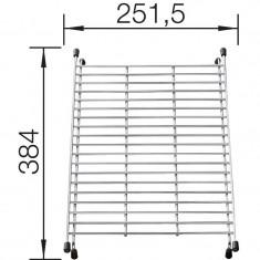Grille égouttoir suspendue et amovible 384x251,5 mm - Blanco