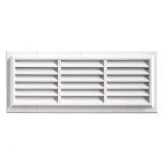 Grille ventilation PVC traditionnelle 140x340mm - Pose en applique