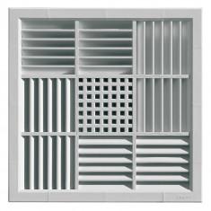 Grille ventilation carrée PVC pour faux-plafonds