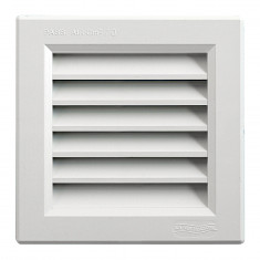 Grille ventilation PVC traditionnelle 140x140mm - A encastrer