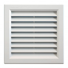 Grille ventilation PVC traditionnelle 189x189mm - A encastrer