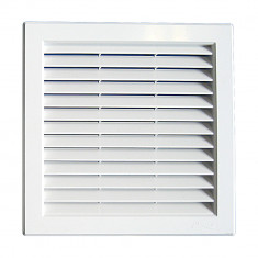 Grille ventilation PVC traditionnelle 217x217mm - A encastrer