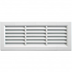 Grille ventilation PVC traditionnelle 340x140mm - A encastrer