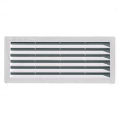 Grille ventilation rectangulaire PVC 254x108mm à encastrer