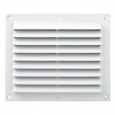 Grille ventilation rectangulaire PVC anti-pluie 175x146mm