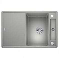 Évier de cuisine Axia III 45S - Gris Perle - sous-meuble 45 cm - L 780 x l 510 x P 185 mm + planche en verre - Blanco