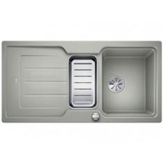Évier de cuisine Neo 6S - Gris Perle - sous-meuble 60 cm - L 1000 x l 510 x P 190 mm + Planche en composite - Blanco