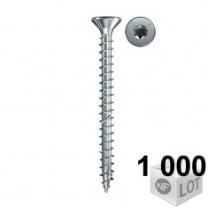 1000 Vis VBA zingué blanc Power-Fast TX20 Ø4 - en 2 modèles - Fischer