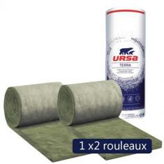 Un paquet de 2 rouleaux laine de verre URSACOUSTIC TERRA nu 600mm - Ep. 85mm - 10,80m² - R 2.10