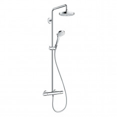 Croma Select S Showerpipe Croma Select S 180 2jet blanc/chromé - Hansgrohe 27253400