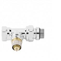 """Corps droit de robinet à préréglage RA-NCX 15 chromé - 1/2"""" (15/21)"""