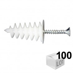 100 chevilles ISORAM avec 100 vis agglo 4,5x35 - Ram