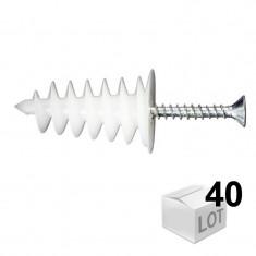 40 chevilles ISORAM avec 40 vis agglo 4,5x35 - Ram