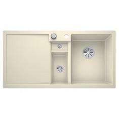 Évier de cuisine Collectis 6S - Jasmin - sous-meuble 60 cm - L 1000 x l 500 x P 190 mm + Bac de tri - Blanco
