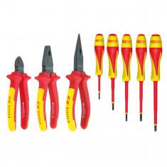 Jeu de pinces et tournevis à poignée bi-composant - 8 pcs KS Tools 117.1105