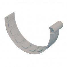 Jonction à coller PVC 33 demi-ronde - gris