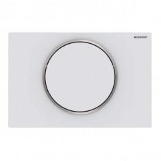 Plaque de déclenchement blanc mat laqué Sigma10 pour rinçage interrompable - Geberit