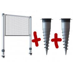 Kit poteaux multisports télescopique + 2 bases d'ancrage GARD&ROCK