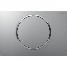 Plaque de déclenchement noir et chromé brillant Sigma10 pour rinçage interrompable - Geberit