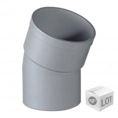 Lot de 10 coudes PVC 22°30 MF Ø100 - NF M1