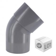 Lot de raccord PVC - 10 Coudes 45° MF Ø100