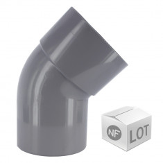 Lot de raccord PVC - 10 Coudes 45° MF Ø40