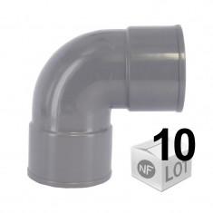 Lot de 10 raccords PVC - 87°30 FF Ø32 ou Ø40 ou Ø50 ou Ø100 FIRST-PLAST