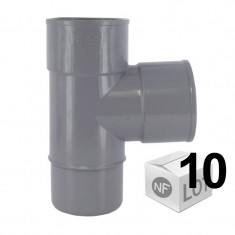 Lot de 10 raccords PVC - Culotte 87°30 Mâle Femelle Ø40 ou Ø50 ou Ø100 FIRST-PLAST