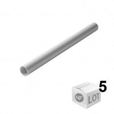 Lot de 5 Tubes PVC blanc NF Ø32 mm - 2 mètres - Nicoll