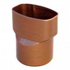 Manchon PVC M Ø80 - F 92x57 pour tube BEST - effet cuivre