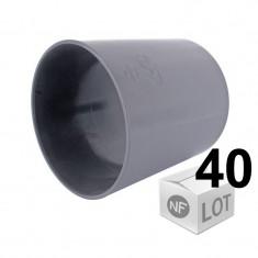 Lot de 40 raccords PVC Manchons lisses Ø100 Femelle/Femelle First Plast