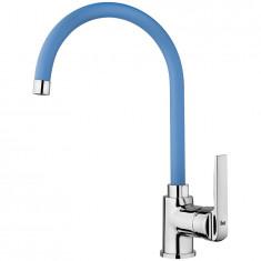 Mitigeur évier KOME Chromé/Bleu - KOM12B