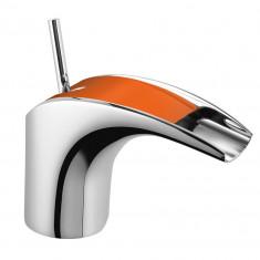 Mitigeur lavabo Chromé/Orange MAJI - MAJ15O